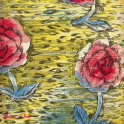 French screen-printed glazed cotton c.1950